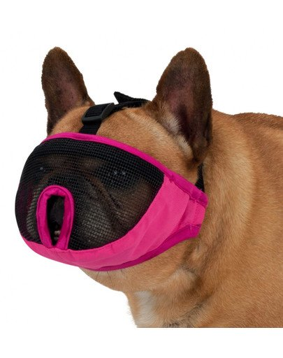 Kaganiec dla psów ras krótkopyskich S–M: 24 cm, różowy