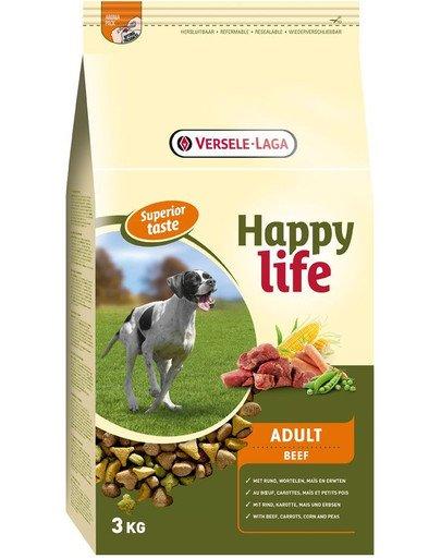 Happy life adult beef 3 kg