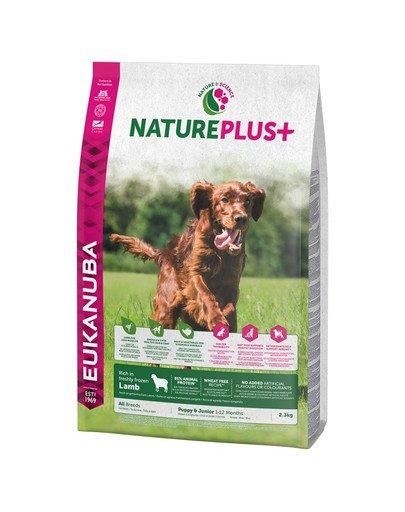 Nature Plus+ puppy & junior rich in freshly frozen Lamb 2,3 kg