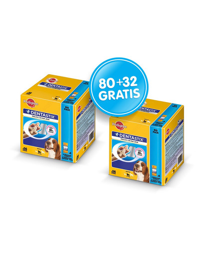 Dentastix Medium 80+32 GRATIS
