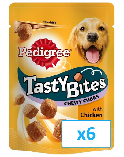 Tasty bites chewy cubes 6 x 130 g