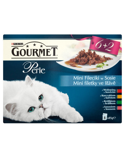 Perle mini fileciki z wołowiną w sosie 85 g mix 6+2 gratis