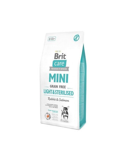 Care Grain Free  Min light & sterilised rabbit & salmon 7 kg