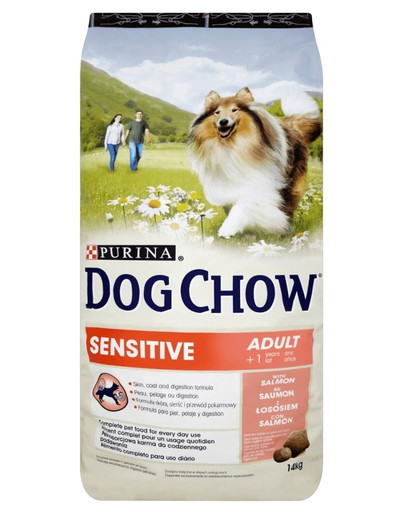 Dog Chow Adult sensitive łosoś 14 kg