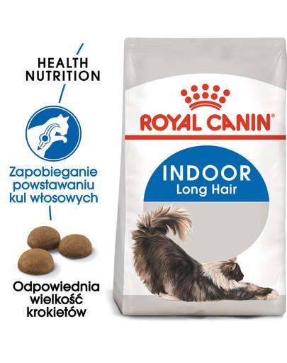 Indoor Long Hair 400 g karma sucha dla kotów dorosłych, długowłose, przebywających wyłącznie w domu