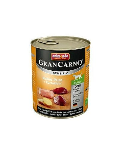Grancarno Sensitive indyk z ziemniakami 800 g