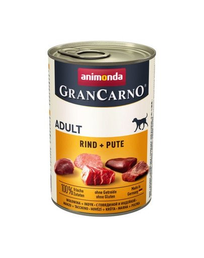 Grancarno wołowina i indyk 400 g