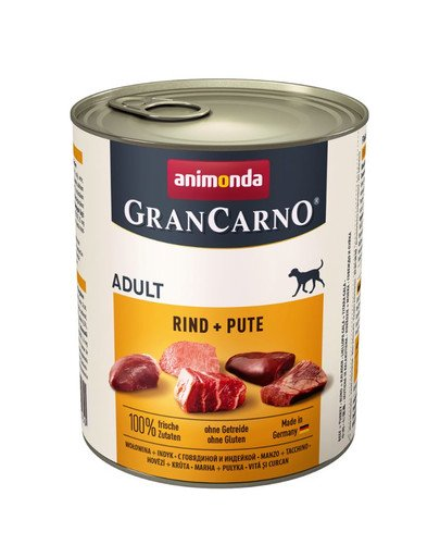 Grancarno wołowina i indyk 800 g
