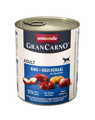 Grancarno wołowina, wę˜dzony wę˜gorz i ziemniak 800 g