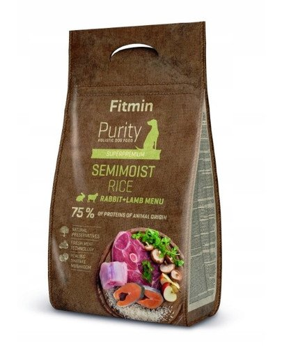 Dog Purity rice semimoist rabbit & lamb 4 kg