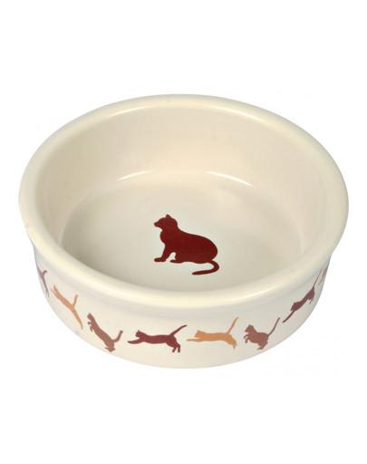 Miska ceramiczna dekorowana dla kota 250 ml / 11 Cm