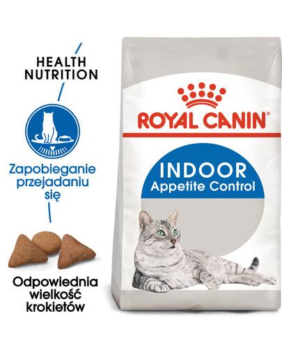 Indoor Apetite Control 400 g karma sucha dla kotów dorosłych, przebywających wyłącznie w domu, domagających się jedzenia