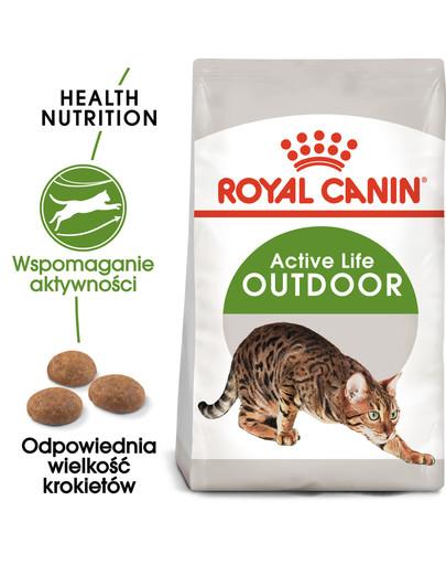 Outdoor 4 kg karma sucha dla kotów dorosłych, wychodzących na zewnątrz