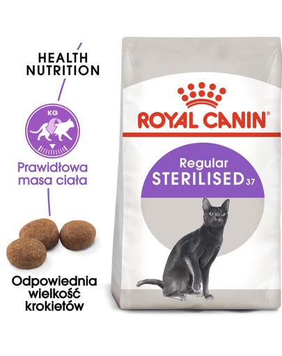 Sterilised 37 10 kg + 2 kg GRATIS karma sucha dla kotów dorosłych, sterylizowanych
