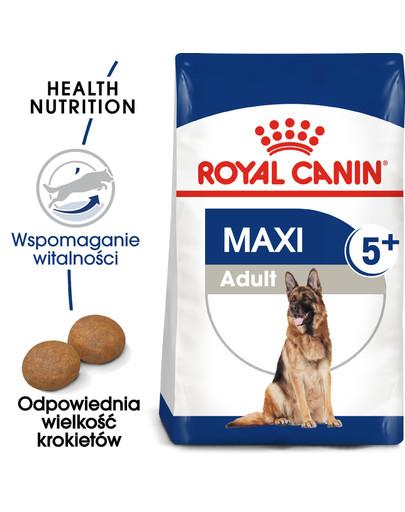 Maxi Adult 5+ 15 kg karma sucha dla psów starszych, od 5 do 8 roku życia, ras dużych
