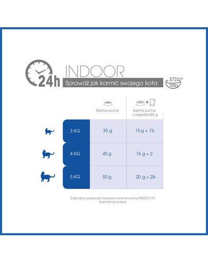 (Indoor 1+) 750g Bogaty w kurczaka - sucha karma dla kotów żyjących w domu