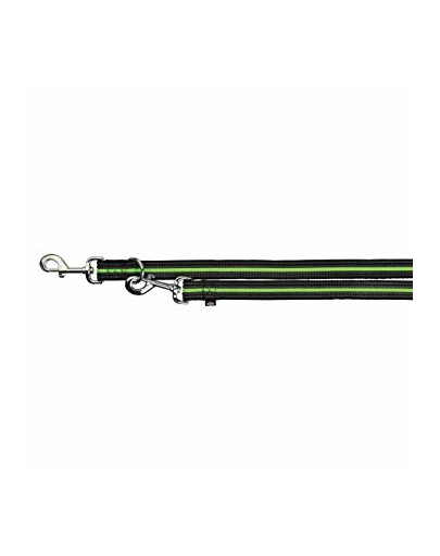 "Smycz ""Fusion adjustable lead""  L - XL  2 m / 25 mm czarno - zielony"
