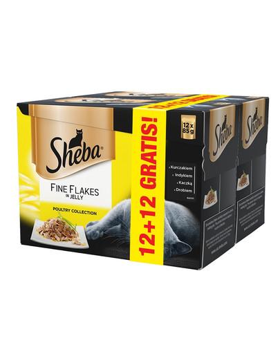 Fine Flakes in Jelly smaki drobiowe 85 g 12+12 GRATIS