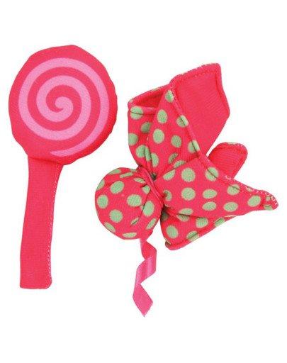 """Zabawka Dla Kota Candy Toys """"Kwiatek i Cukierek"""" z Kocimiętką Kol. Czerwony"""