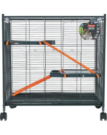 Klatka Indoor Mini Loft 430X720X730 mm Kol. Szary/Pomarańczowy
