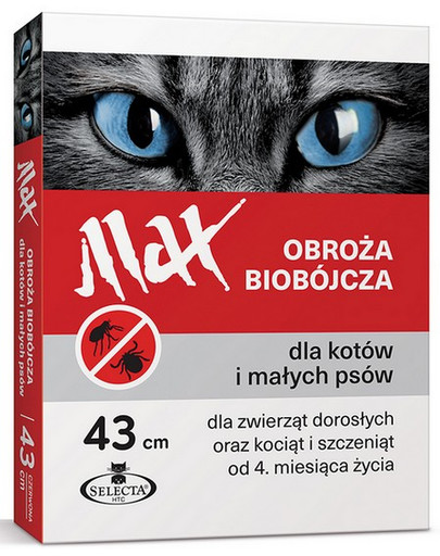 Obroża biobójcza Max 43 cm czerwona