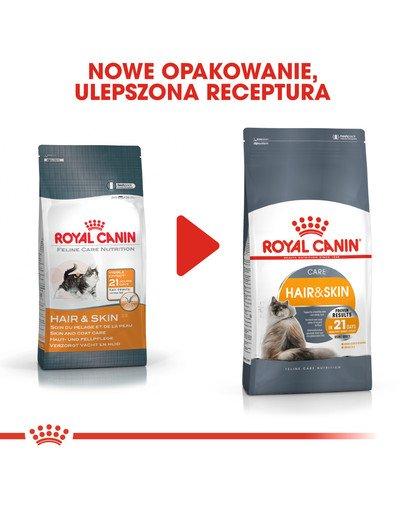 Hair&Skin Care 10 kg karma sucha dla kotów dorosłych, lśniąca sierść i zdrowa skóra