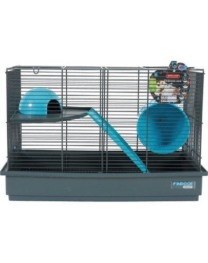 Klatka Indoor 50 cm Dla Myszek, Podwójna Kol. Szary/Niebieski