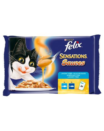 Sensations Sauce Surprise 4x100g: łosoś morski, sardynki z marchewką
