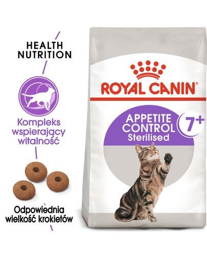 Sterilised Appetite Control +7 1.5 kg karma sucha dla kotów starszych, sterylizowanych, domagających się jedzenia