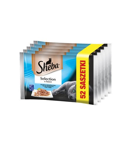 Selection in Sauce 52x85 g mokra karma dla kotów w sosie 4 smaki rybne