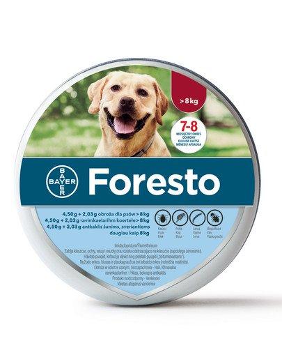 FORESTO Obroża dla psa przeciw kleszczom i pchłom powyżej 8 kg