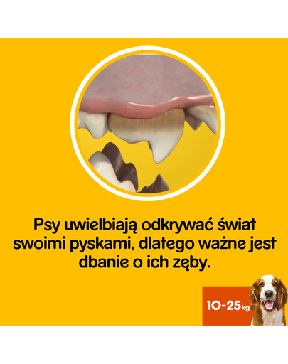 DentaStix (średnie rasy) przysmak dentystyczny dla psów 28 szt. - 4x180g
