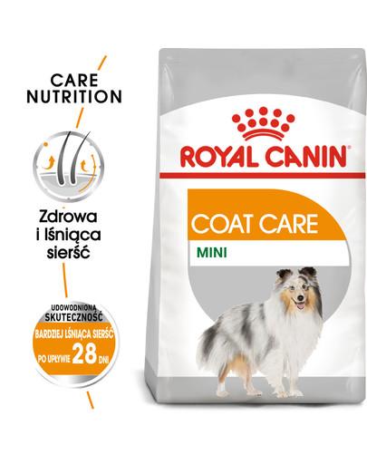 Mini Coat Care karma sucha dla psów dorosłych, ras małych o matowej sierści 3 kg