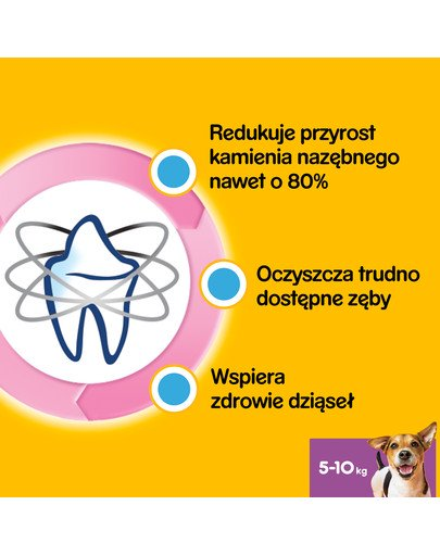 DentaStix (małe rasy) przysmak dentystyczny dla psów 28 szt. - 4x110g