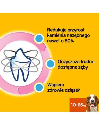 DentaStix (średnie rasy) przysmak dentystyczny dla psów 56 szt. - 8x180g