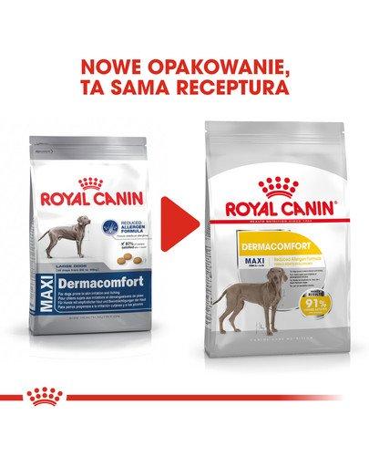 Maxi Dermacomfort karma sucha dla psów dorosłych, ras dużych, o wrażliwej skórze, skłonnej do podrażnień 10 kg