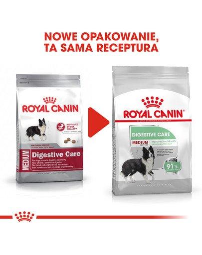 Medium Digestive Care karma sucha dla psów dorosłych, ras średnich o wrażliwym przewodzie pokarmowym 10 kg