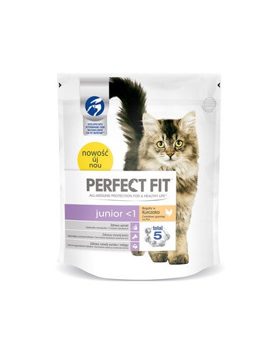 (Junior) 5x750g Bogaty w kurczaka - sucha karma dla kotów