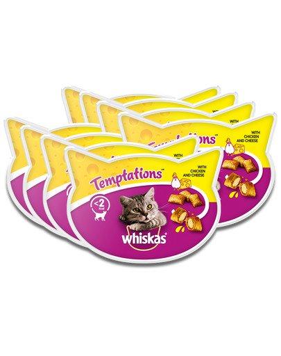 Temptations 8x60g - przysmak dla kota z kurczakiem i serem