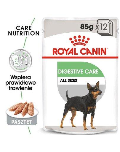 Digestive Care karma mokra - pasztet dla psów dorosłych o wrażliwym przewodzie pokarmowym 12 x 85 g