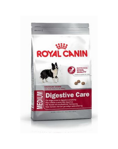 Medium Digestive Care 15 kg karma sucha dla psów dorosłych, ras średnich o wrażliwym przewodzie pokarmowym