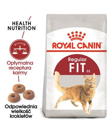 REGULAR FIT 32 2 kg karma sucha dla kotów dorosłych, wspierająca idealną kondycję