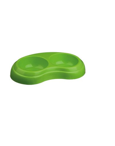 Miska plastikowa ciężka  podwójna 2 x 0.2 l/ śr.10 cm