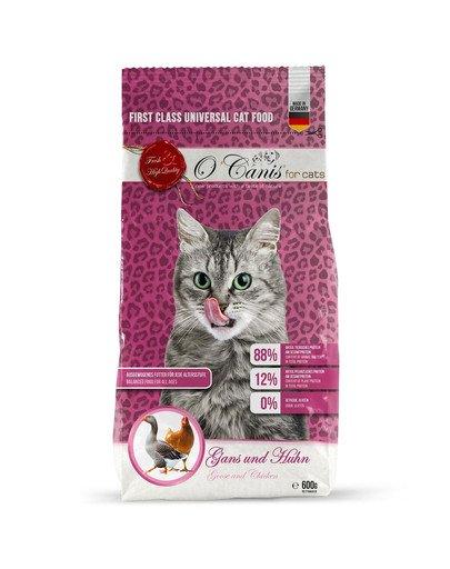 for cats Karma sucha dla kota: gęś i kurczak 600 g