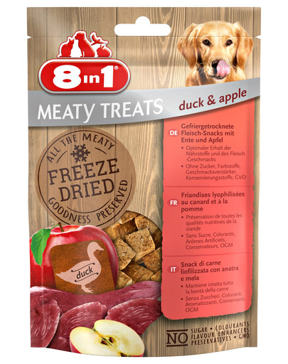 Mięsne liofilizowane przysmaki Kaczka i jabłka 50 g