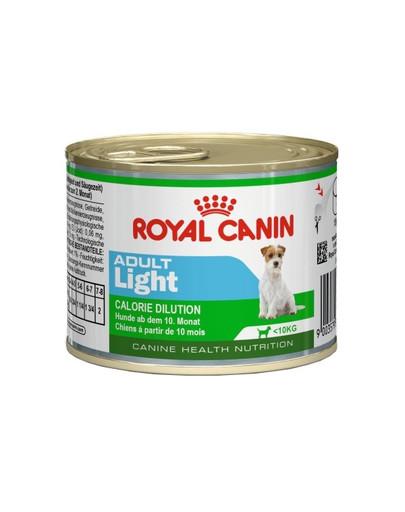 Adult Light karma mokra, dla psów dorosłych, ras małych, tendencja do nadwagi 195 g