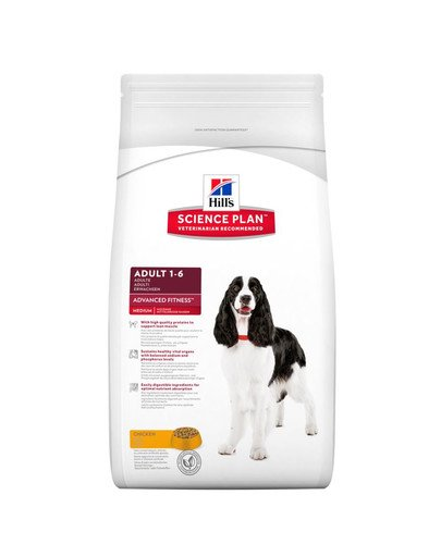 Science Plan Canine Adult Advanced Fitness Large Breed Chicken 12 kg