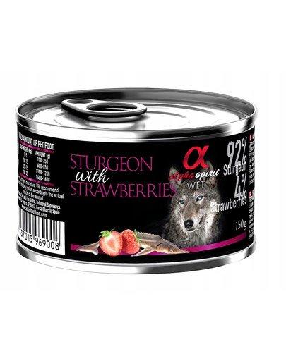 Sturgeon with strawberries Jesiotr z truskawkami 150 g