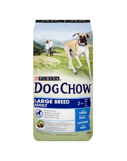 Dog Chow Adult large breed indyk 14 kg