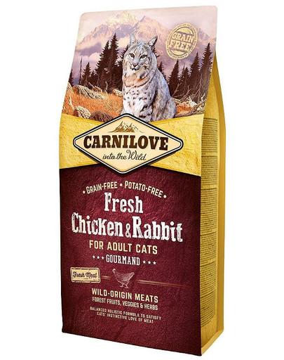 Adult Gourmand fresh kurczak i królik 2 kg